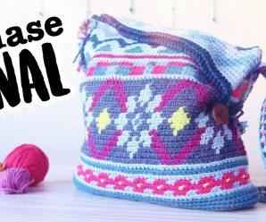 😍 Precioso bolso tapestry a crochet (Super fácil!!!) 👜 ❤️💖