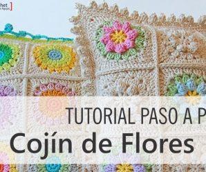 Super tutorial- Paso a Paso Cojín de Flores!!!