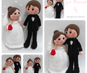 🎀TUTORIAL DE NOVIOS🤵🏻 👰🏻 AMIGURUMIS A CROCHET O GANCHILLO 💝