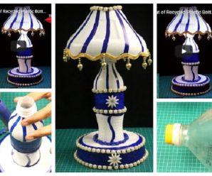 😱✅Aprende cómo hacer una hermosas lamparas con botellas🍾 recicladas!!😍