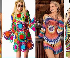 Aprende hacer hermosos vestidos de playa- paso a paso!!!