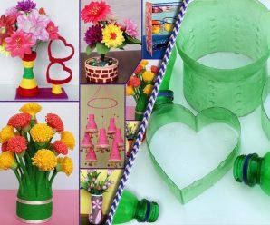 Ideas para reutilizar tus botellas plásticas creando hermosos adornos