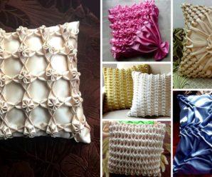 💖👩Patrones para hacer hermosos cojines drapeados🛌-ideas decorativas!!!😍