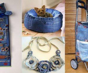 👩🏽🏫🤗Aprende a reutilizar tus jeans-👖 ideas para tu casa!!!🏠👈🏾
