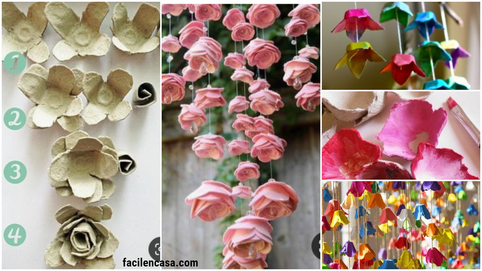 Aprende Hacer Flores Colgantes Con Cartón De Huevos Cursos Gratuitos