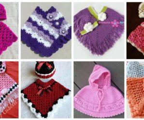 Hermosos ponchos a crochet para tu niña- paso a paso