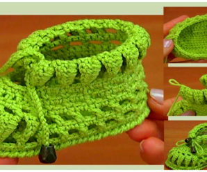 Tutorial de hermosos zapatitos de bebe tejidos a ganchillo