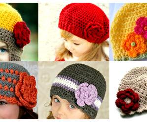 Bellisimos gorros de niña a crochet-tutorial gratis!!!