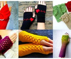 Aprende a tejer bellisimos mitones para dama coloridos a crochet!!!