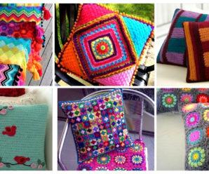 Preciosos fundas de cojines tejidos a crochet-paso a paso!!!