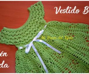 Tutorial gratis de hermoso vestido para bebe recién nacido a crochet!!!