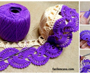 Hermoso modelo de encaje de dos colores a crochet-paso a paso!!!