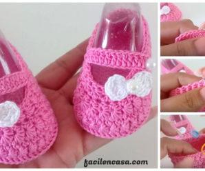 Hermosos zapatitos de bebe a crochet-paso a paso!!!