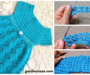 Aprende a tejer a crochet precioso vestido de niña!!!