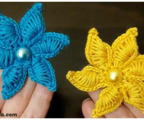 Bellisimas flores tejidas a crochet-paso a paso!!!