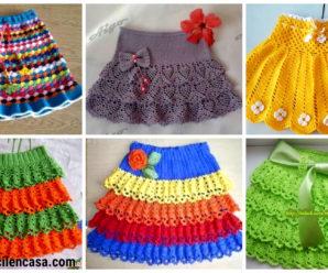 Aprende a tejer hermosas faldas de niña a crochet-paso a paso!!!