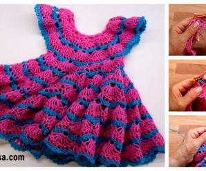 Bellisimo vestido colorido a ganchillo- tutorial gratis!!!