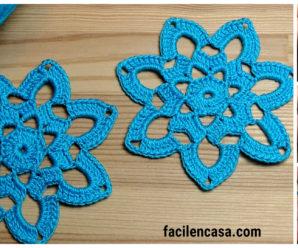 Aprende a tejer hermoso encaje de rosas a crochet!!!