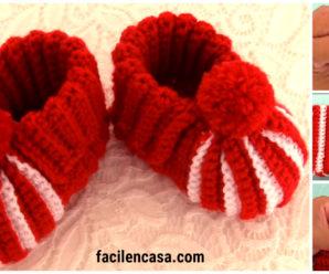 Bellisimos zapatitos de bebe tejidos a crochet!!!