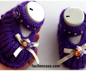 Preciosos zapatitos de bebe a crochet-paso a paso!!!