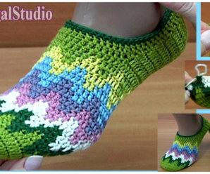 Tutorial gratis de hermosas medias coloridas a crochet!!!