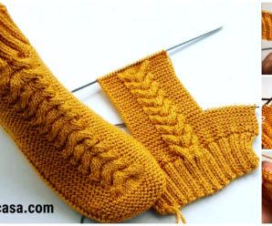 Aprende a tejer hermosas botas de mujer a dos agujas!!!
