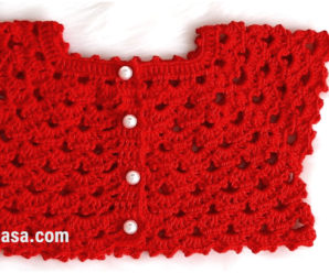 Canesu tejido a crochet para niñas- tutorial gratis!!!
