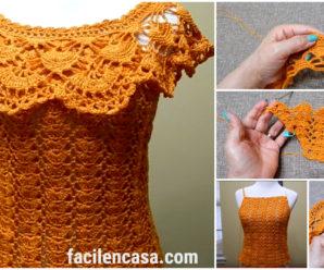 Hermosa blusa de verano a crochet-paso a paso!!!