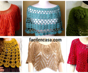 Bellisimas capas tejidas a crochet-paso a paso!!!