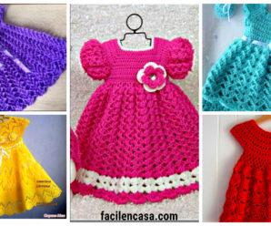 Aprende a tejer hermosos vestidos a crochet para niña!!!