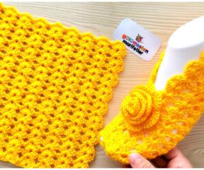 Hermosas pantuflas a crochet-tutorial gratis paso a paso!!!
