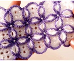 Bellisima manta con perlas- patrón gratis a crochet!!!