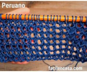 Tutorial gratis de punto peruano a palillos-paso a paso!!!