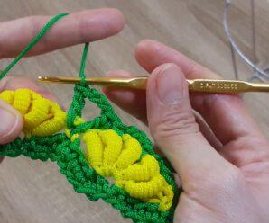Hermoso punto multicolor para tejer bolsos o carteras a palillos!!!