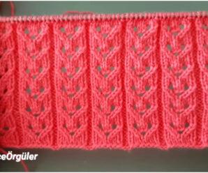 Hermoso Patrón de punto calado verano para suéter!!!