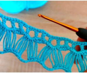 Hermoso modelo de encaje a crochet-paso a paso!!!