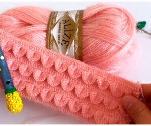 No te pierdas un nuevo punto en alto relieve a crochet