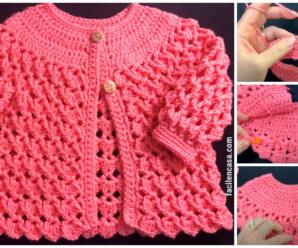 Chaqueta o abrigo para niñas a crochet!!!
